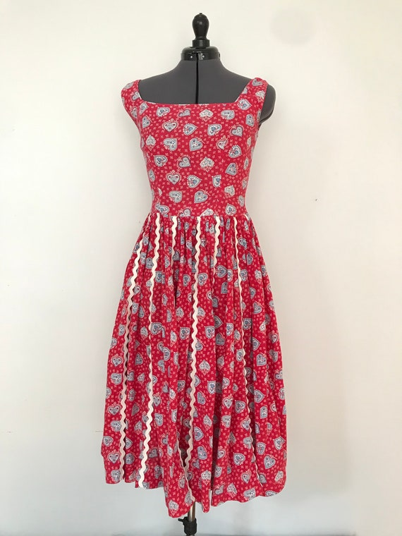1950s Bavarian Cotton Sundress