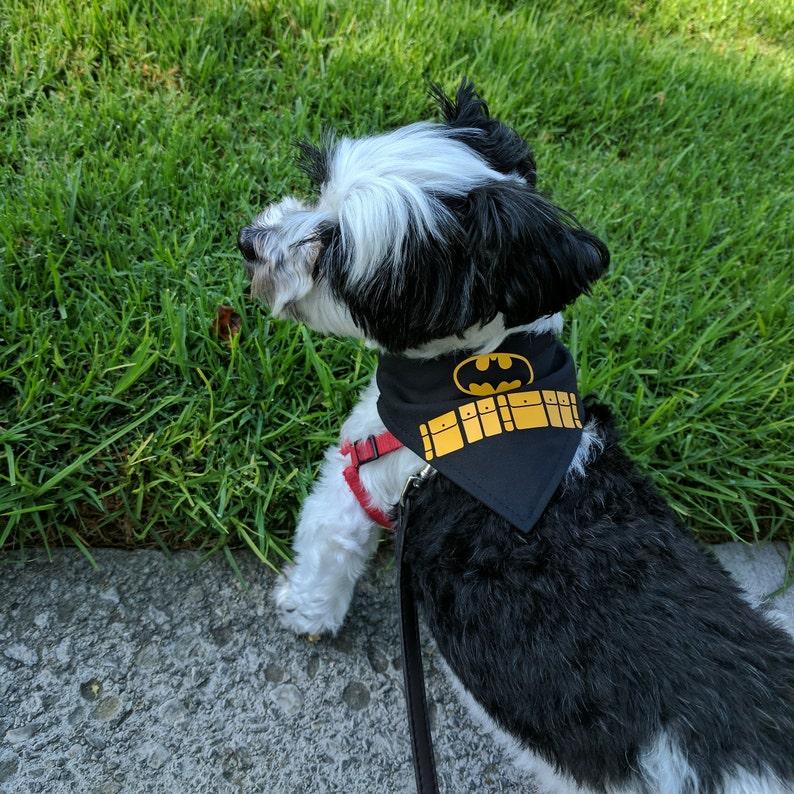Bat Superhero Inspired Pet Bandana For Dog Cat Rabbit Etsy