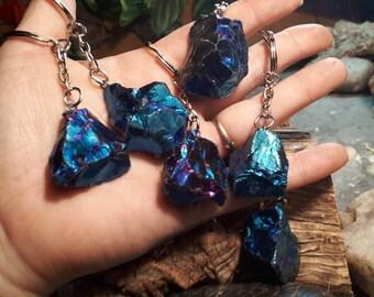 Blue Crystal Keyring Keychainkeyringaccessorytrinketcharmgift ideashandmadebag accessory