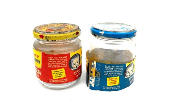 1960s Gerber Baby Food Jars Vintage Chicken Meat Dinner Ham Etsy