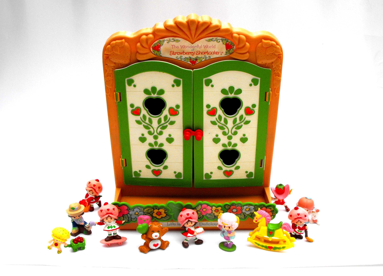 1981 Strawberry Shortcake Dollhouse Cabinet Vintage Wonderful Etsy