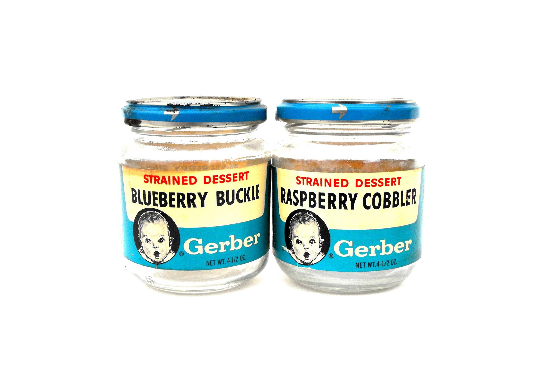 1960s Gerber Baby Food Jars Vintage Blueberry Buckle &   Etsy