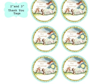 Nursery Rhyme Baby Shower Favor Thank You Tags