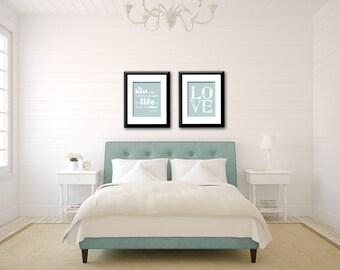 Audrey Hepburn Quote, Love Print, Bedroom Decor, Bedroom Wall Art, Home  Decor, Wedding Gift, Blue Wall Art