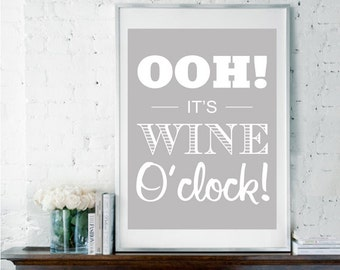 FV11 Framed Vintage Style Women Is It Wine O/'clock Yet Funny Poster Print A3//A4