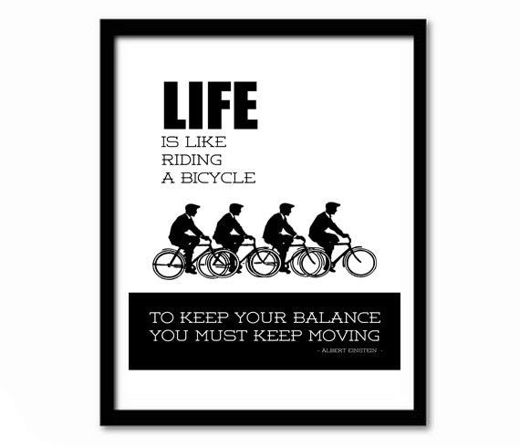 Das Leben ist wie Fahrrad fahren Fahrrad drucken | Etsy
