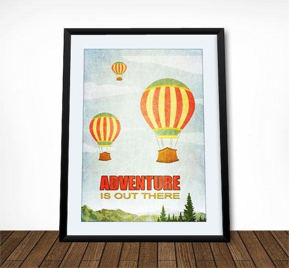 Adventure Is Out There Adventure Quote Hot Air Balloon Etsy