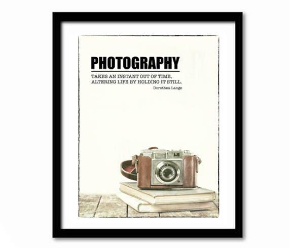 Citation De Poster Photographie Photographie Photographie Cadeau L Appareil Photo Imprimer Art Littéraire Littérature Cadeau Citation De