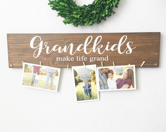 grandkids make life grand sign grandkids sign christmas gift grandparents gift mothers day gift grandparents sign - Christmas Ideas For Grandparents