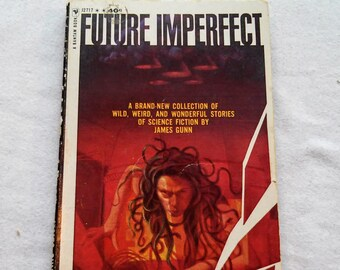 "Vintage 60's Science Fiction Paperback, ""Future Imperfect"" a Short Story Collection by James Gunn, 1964."