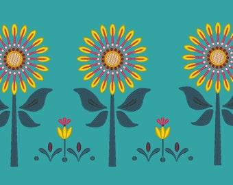 Sunflower Tulip Bees Anna Spring Summer Dress Skirt Embroidery Machine Design