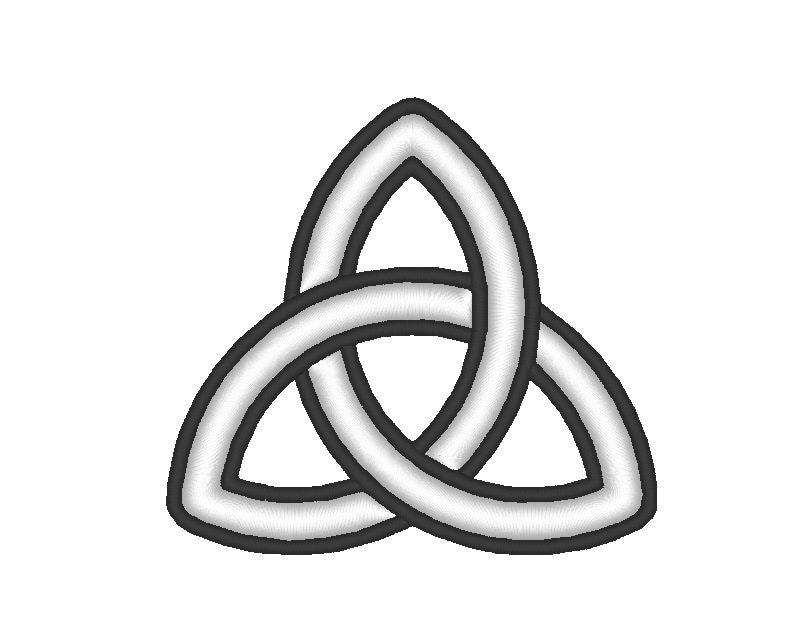 Basic Triquetra Celtic Knot Symbol Embroidery Machine Design Etsy
