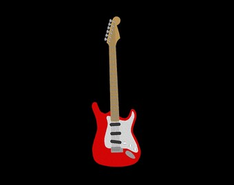 Electric Guitar Embroidery Design