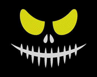 Scary Face Monster Corpse Eyes Halloween Embroidery Machine Design