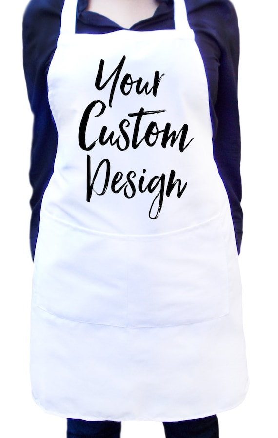 Personalized apron for women, custom apron for men, White kitchen apron,  Baking apron, Personalized Christmas apron Cooking apron Chef apron