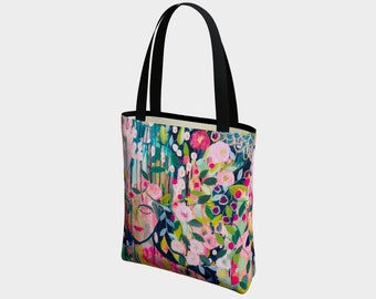 She Became Herself Canvas Tote Bag