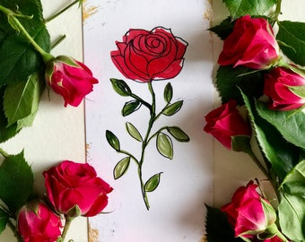 """Rose Cards: The """"Color Your Own"""" Collection"""