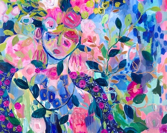 Shakti Blue on Solstice Night Fine Art Print