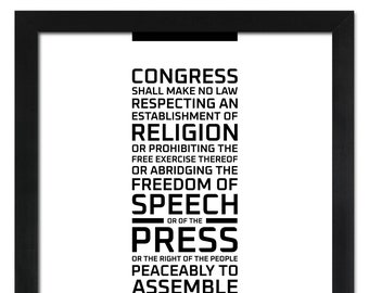 The First Amendment: An unframed print