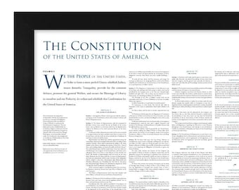 The Constitution of the United States: A 24- by 36-inch print