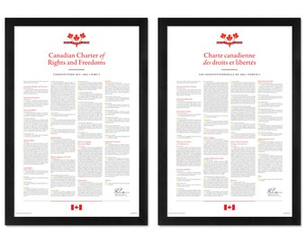 Canadian Charter of Rights and Freedoms: A print in multiple sizes — NOW with more sizes!