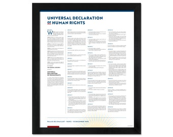 Universal Declaration of Human Rights: A print in multiple sizes and languages