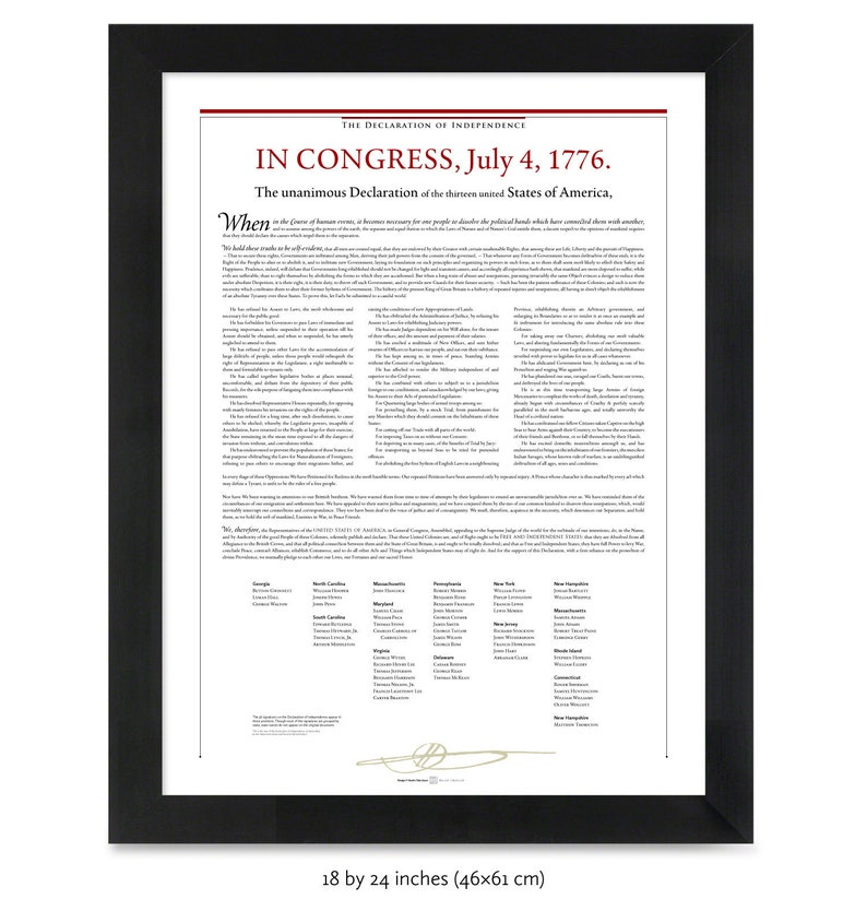 image relating to Printable Declaration of Independence Pdf titled The Declaration of Liberty