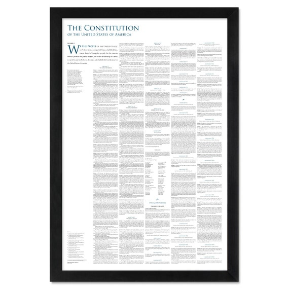 The Constitution of the United States: A 24 by 36-inch print | Etsy