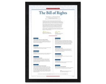The United States Bill of Rights: An unframed print