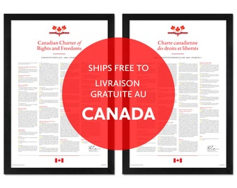 Canadian Charter of Rights and Freedoms: A print in multiple sizes — Ships free in Canada