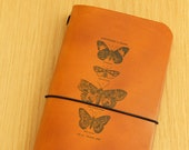 Leather Midori Traveller's Notebook Cover (butterflies)