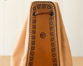 Large Leather Pouch (Antique Brown Cowhide/Natural Pigskin)