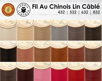 Fil Au Chinois Lin Cable - Waxed Cable Linen Thread for Leatherwork (5m)