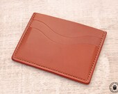 Leather Minimalist Card Wallet (Rosewood Buffalo Calf)