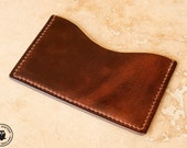 Leather Micro Card Wallet (Dark Brown Horween CXL)