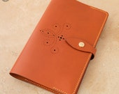 Leather Moleskine Cover (Mid Tan Brogue)