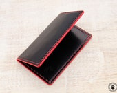 Leather Card Wallet (Black Buffalo Calf)