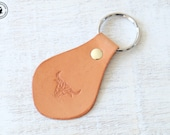 Leather Keyring (Bull)