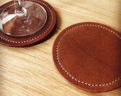 Leather Coaster (rosewood)