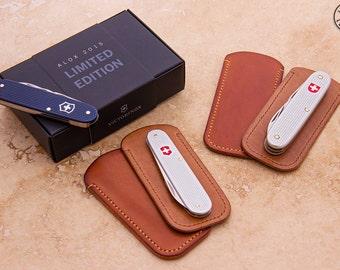 Hand Made Veg Tanned Leather Pocket Knife Slip Case Etsy
