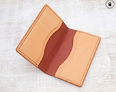 Leather Card Wallet (Chestnut Bridle/Natural)