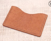 Leather Micro Card Wallet (Natural Horsehide)
