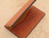 Leather Card Wallet (Mid Tan/Caiman)