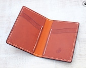 Leather Card Wallet (Whisky/Tan Kangaroo)