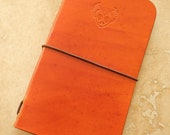 Leather Field Notes or Moleskine Cahier Notebook Cover (Peace Heart)