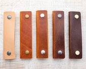 Leather Shopping Bag Handles (pair)