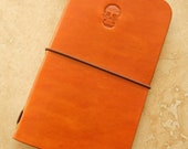 Leather Field Notes or Moleskine Cahier Notebook Cover (Sugar Skull)