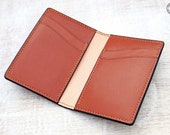 Leather Card Wallet (Chestnut Buffalo Calf/Russet)