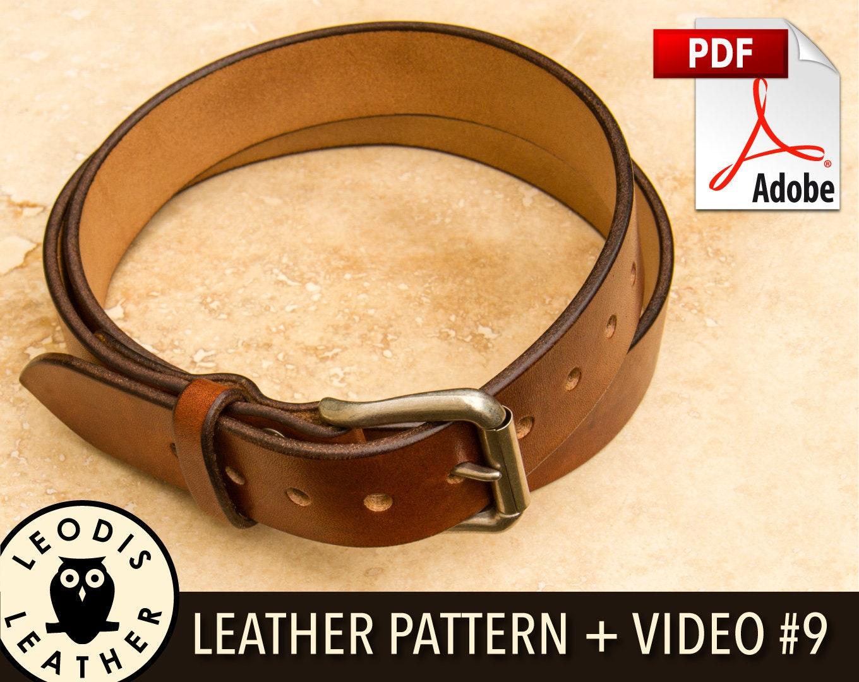 b95e8075d6a Build Along Leather Pattern 9  Belts