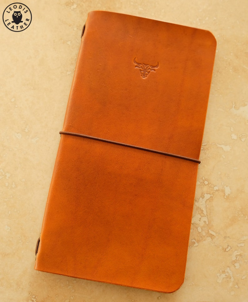 Leather Midori Traveller's Notebook Cover Bull image 0